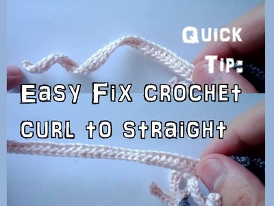 Learn how to straighten a curly crochet chain