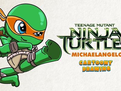 Ninja turtle - Michaelangelo - How to draw in five minutes