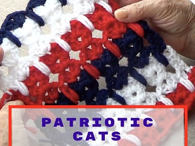 Patriotic Crochet Cats - Red, White and Blue Lace Crochet