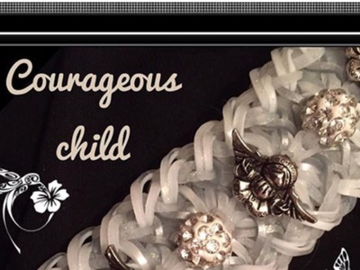 Rainbow Loom Band Courageous Child Bracelet Tutorial.How To