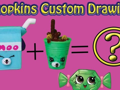 SHOPKINS CUSTOM DRAWING | Easy doodle tutorial Petkins Milk Bud. Drinky Drink how to draw video