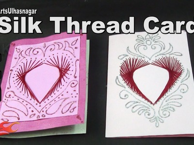 Silk Thread Greeting Card | How to make | JK Arts 980