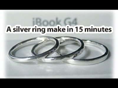 Silver ring : Concise and no waste how to make.