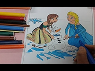 Speed coloring : How to color frozen colouring pages , coloring for kids , arts for kids