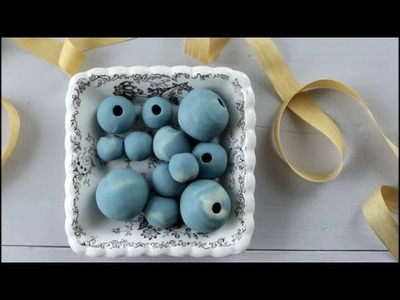 Technique: How to Make HOLLOW Polymer Clay Beads Using Spun Cotton Balls