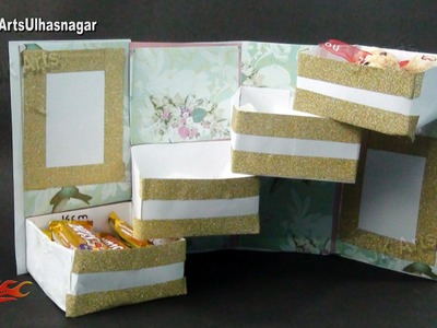 Tower Gift Box With Shelves Tutorial | Gift box Idea  | How to make | JK Arts 969