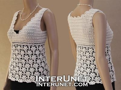 White Ivy tank top - crochet lace blouse