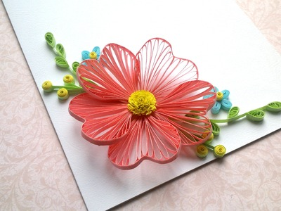 Card designs: Quilling flowers  tutorial and Quilling designs for cards