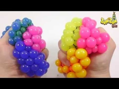 DIY Change Colors Squishy Stress Ball How To Make 'Slime Balloons Ball' Learn Colors Slime Icecream