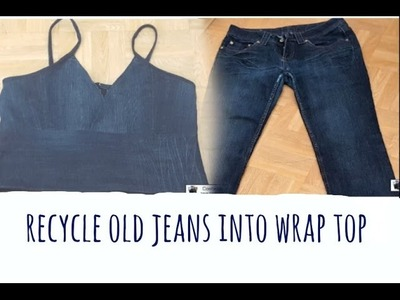 Diy jeans recycle into top