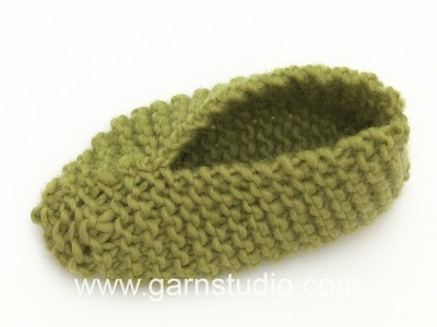 DROPS Knitting Tutorial: How to work the slippers in DROPS Extra 0-1279