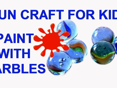 Easy Kid's Art Craft Project - How To Paint With Marbles - Toddler, Kindergarten, Elementary Age