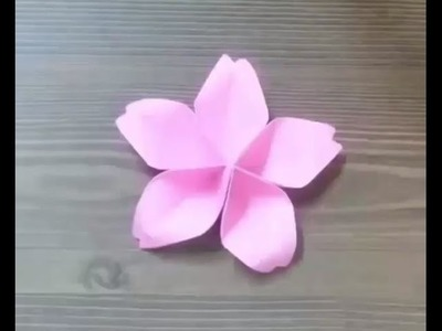 Easy Origami Flower | Origami flowers for beginners - How to make origami flowers very easy