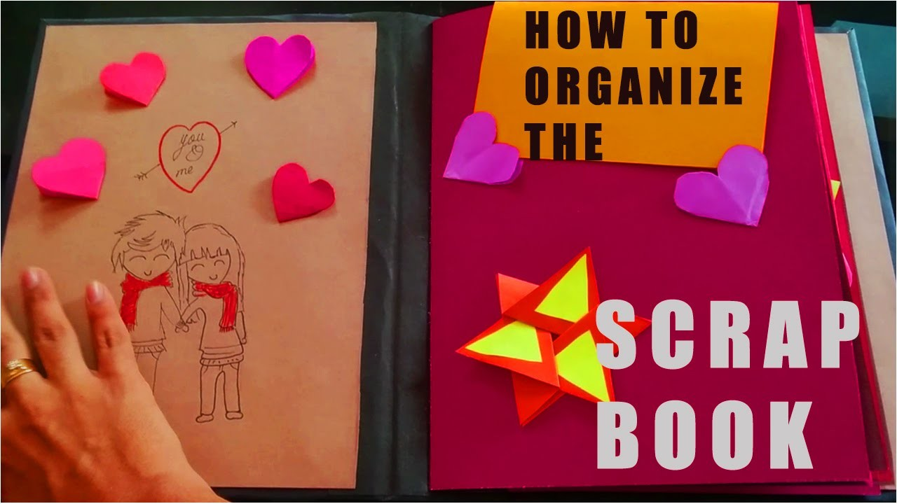 Easy SCRAP BOOK making IDEAS:Tutorial How to Organize Scrapbook
