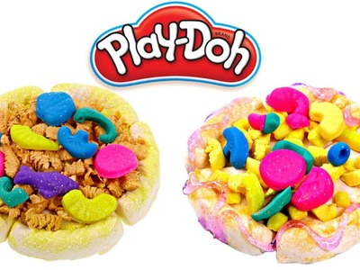 Glitter Play Doh Pizza | How To Make Glitter Play Dough Pizza | Playdoh Pizzeria