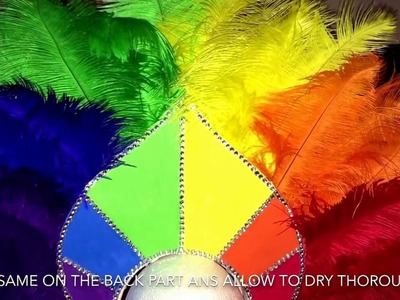 How I made my rainbow headdress (Step By Step)