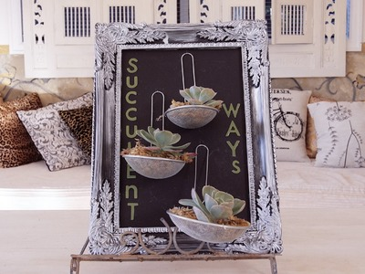 How make a Succulent Plant Picture Frame