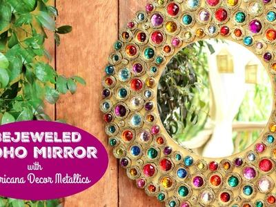 HOW TO: Bejeweled Boho Mirror