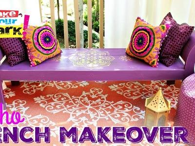 How to: Boho Bench Makeover