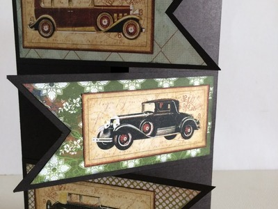 How To: Classic Car Themed Birthday Card