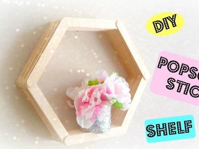 How to: DIY Popscile Stick Shelf | Easy Wall Decor