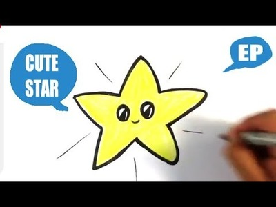 How to Draw a Cute Star - Easy Pictures to Draw