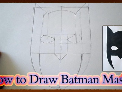 How to Draw Batman Mask Step by Step for Beginners