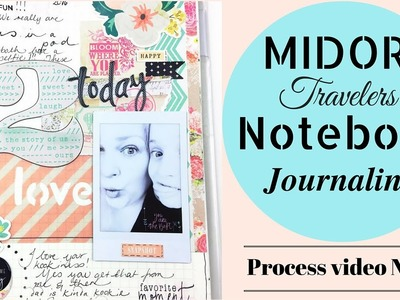 How to Journal.Art Journal - Midori Notebook - process video no.9
