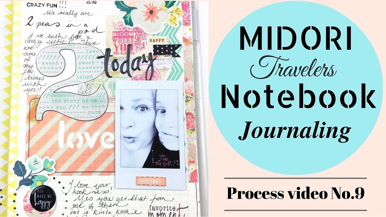 How to Journal.Art Journal - Midori Notebook - process video no.9