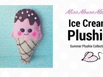 How to make a cute Kawaii felt ice cream plushie