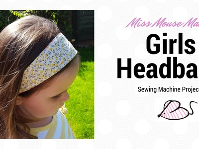 How to make a cute reversible headband with fabric