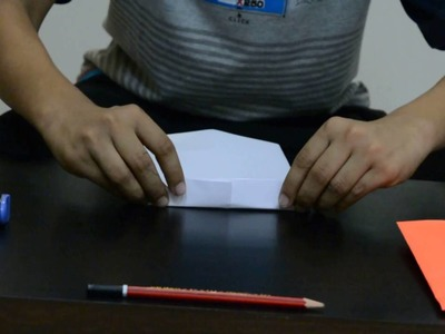How to make a easy paper pencil pouch.