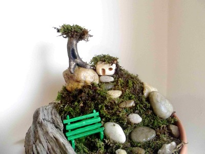 How To Make A Fairy House and Mountain Garden With Polymer Clay