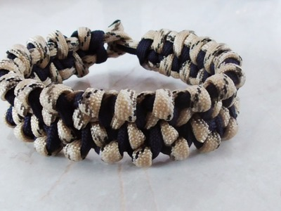 How To Make A Gator Scales Paracord Survival Bracelet Without Buckles