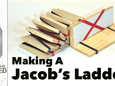 How to make a Jacob's Ladder toy with hand tools.
