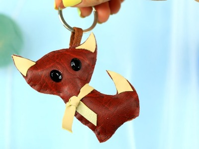 How to Make a Leather Cat Keychain