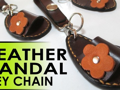 How To Make A Leather Sandal Keychain -- FREE Templates