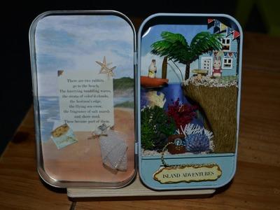 How to make a lovely miniature happy summer Rabbit scène handmade