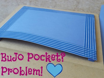 How To Make A Pocket For Your Bullet Journal