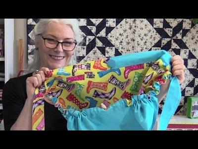 How to Make a Reversible Basket Apron