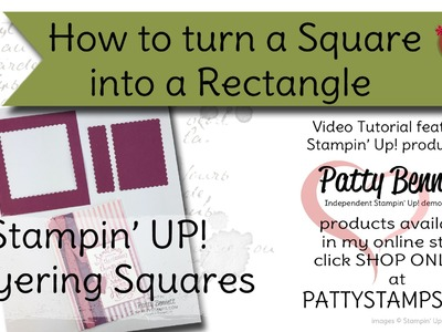 How to make a Scalloped Rectangle from Layering Square Stampin' UP! Framelits
