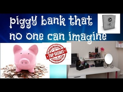 How to Make a Secret Piggy bank at Home-simple