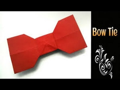 How to Make an Exploding Origami Bow Tie - Origami (Easy)