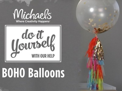 How to Make Boho Tassel Balloons | DIY Summer Party | Michaels