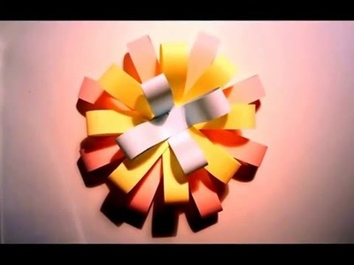 How to make colorful paper flowers 2016   colorful origami new 2016 on youtube
