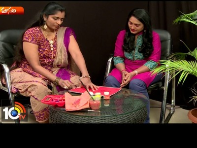 How To Make Colorful Thread Paintings At Home | Sogasu | Manavi | 10TV