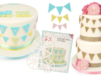 How To Make Easy Sugar Bunting For Your Cake Or Cupcakes