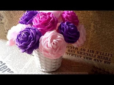 How to make paper flowers tutorial for every one | Origami paper flowers easy on youtube