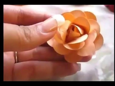 How to make paper flowers tutorial 2016 for kids on youtube