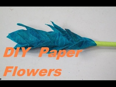 How to make paper flowers with handmade paper.Easy handmade paper flower Tutorial